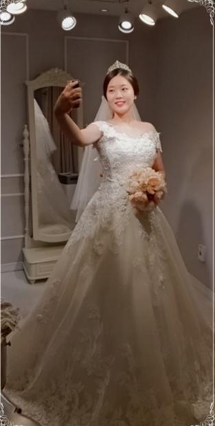 빅사이즈웨딩드레스 1위 오프숄더 드레스